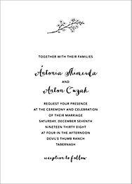 Ivory Plain Wedding Invitation