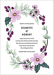 January Herbarium Wedding Invitation