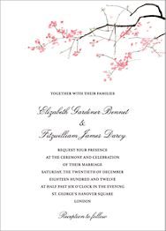 Japanese Cherry Wedding Invitation