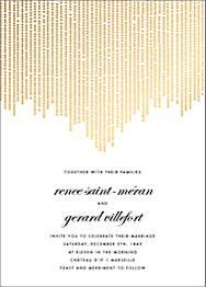 Josephine Baker Foil Wedding Invitation