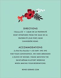 Kona Floral Information Card