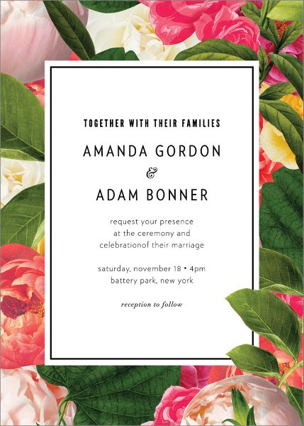 Lanai Floral Wedding Invitation