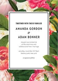 Lanai Floral Wedding Invitation