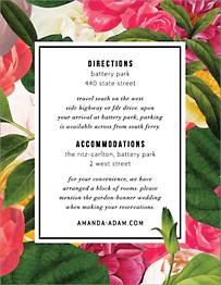 Lanai Floral Information Card