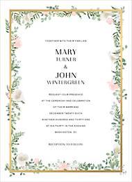 Lautaret Foil Wedding Invitation