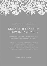Leaf Lace I Wedding Invitation