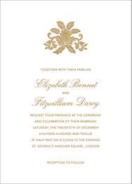 Leaf Lace II Wedding Invitation
