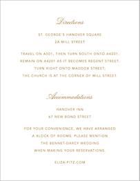 Love Knots Information Card