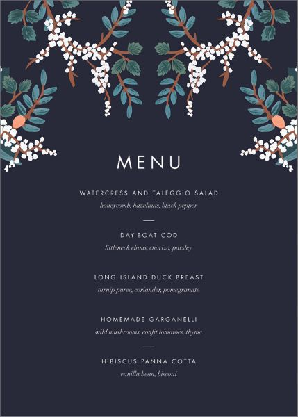 Mandarin Grove Menu