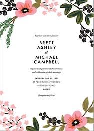 March Herbarium Wedding Invitation