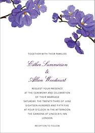 Moth Orchid Wedding Invitation