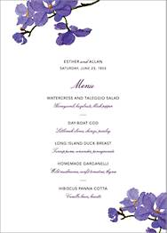 Moth Orchid Menu