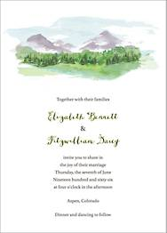 Mountain Scene Wedding Invitation