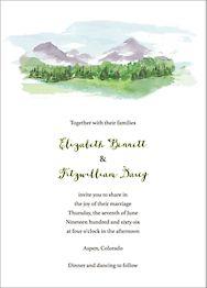 Mountain Scene Wedding Invitation