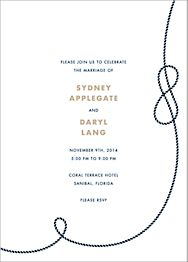 Nautical I Wedding Invitation