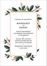 November Herbarium Wedding Invitation
