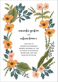 October Herbarium Wedding Invitation