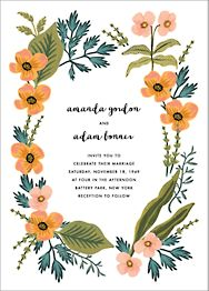 October Herbarium Wedding Invitation