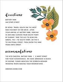 October Herbarium Information Card