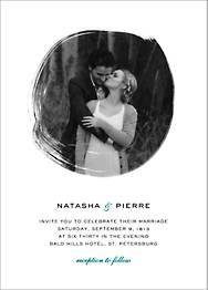 Painted Circle Wedding Invitation