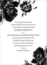 Painterly Blooms Wedding Invitation