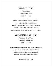 Palmier III Information Card