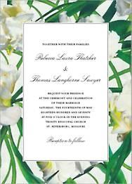 Parrot Tulip Wedding Invitation