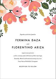 Pastel Petals Wedding Invitation