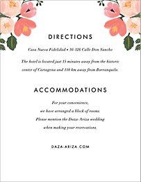 Pastel Petals Information Card