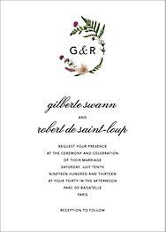 Petites Fleurs Sauvage Wedding Invitation