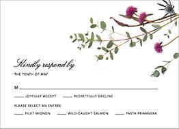 Petites Fleurs Sauvage Response Card