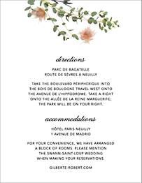 Petites Fleurs Sauvage Information Card
