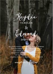 Pilier Wedding Invitation