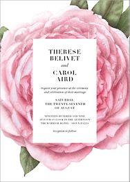 Pivoine Wedding Invitation