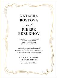 Plume Tall Foil Wedding Invitation