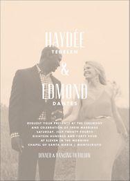 Quai II Wedding Invitation