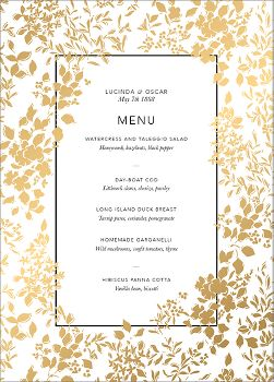Richmond Park Foil Menu