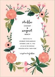 September Herbarium Wedding Invitation