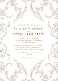 Silk Brocade I Wedding Invitation