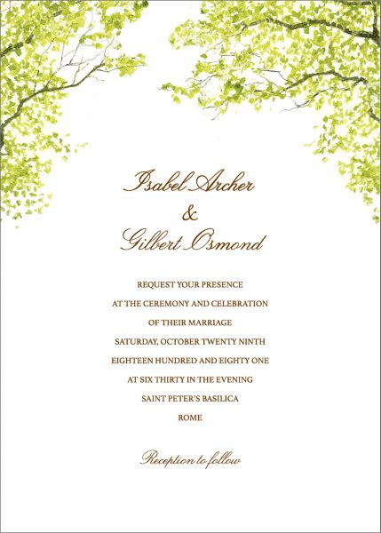 Spring Orchard Wedding Invitation