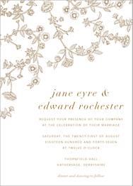 Stitched Floral I Wedding Invitation