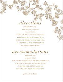 Stitched Floral I Information Card