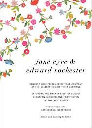 Stitched Floral II Wedding Invitation