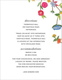 Stitched Floral II Information Card