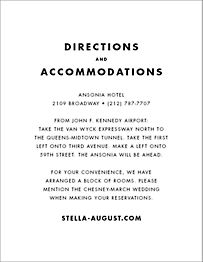 Stripe Suite Information Card