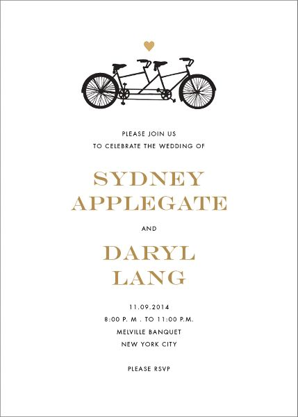 Tandem I Wedding Invitation