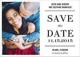 Typographic II Save The Date