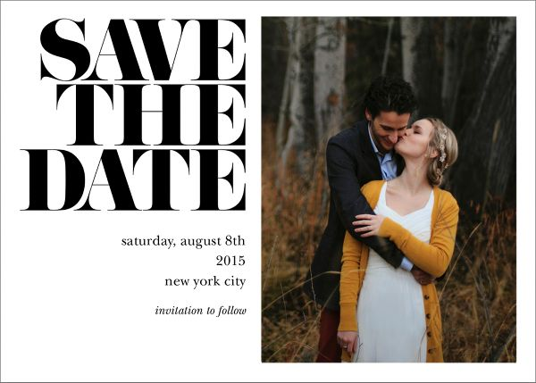 Vintage Book Save the Date