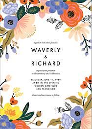 Vivid Florals Wedding Invitation