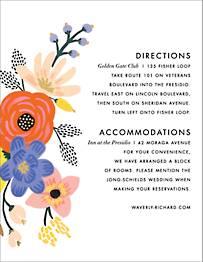 Vivid Florals Information Card